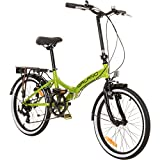 Galano 20 Zoll Klapprad Metropolis Fahrrad Faltrad Campingrad, Farbe:Grün