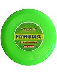 Outdoor Play - Frisbee Flying Disc, disco da competizione, Ø 25,4 cm, con eccellenti caratteristiche di volo, colore: Verde neon