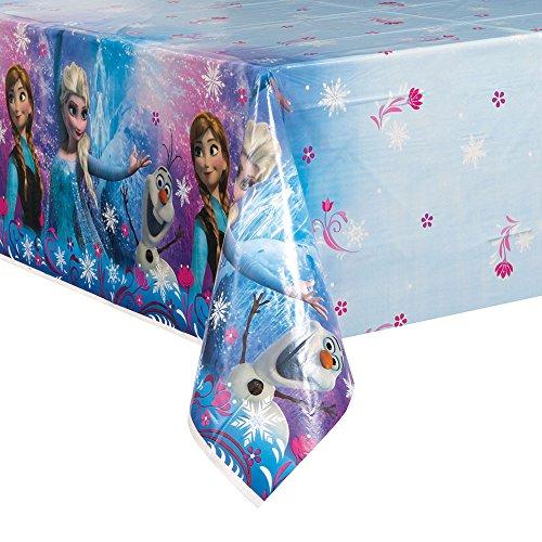 Disney Frozen Party Tischdecke (Kunsstoff) 213 x 137 cm, Motiv Anna,Elsa und Olaf (Disney Olaf Aus Kunststoff Tischdecke)