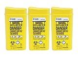 Sharpsafe Behälter für Einweg-Injektionsnadeln, 0,2l, 3Stück