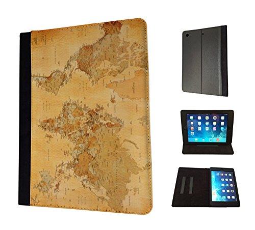 1088-cool-fun-old-vintage-world-map-design-apple-ipad-air-1-2013-fashion-trend-tpu-leather-flip-case