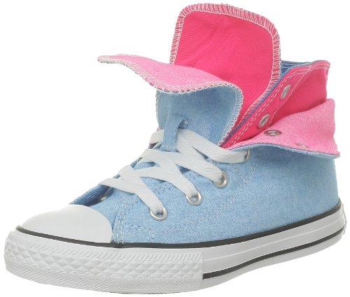 Converse Ct Neo Two Fold 288352-31-5, Unisex - Kinder Sneaker, Blau (Neon Bleu/Rose), EU 31