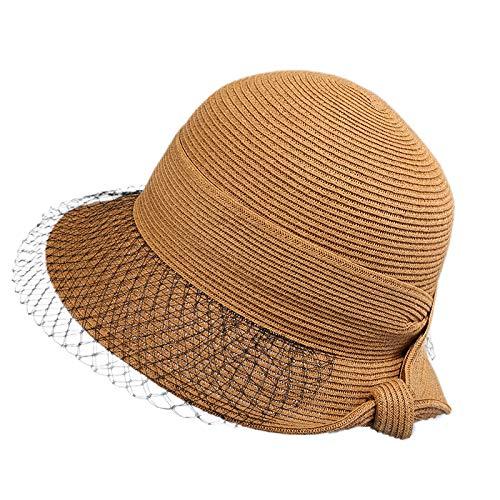 Sombrero de Sol Unisex de ala Ancha Resistente al Viento con Protecci/ón UV para Actividades al Aire Libre Arco Darringls Sombrero de Paja