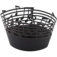 Delaman 50/Pezzi Cup Cake Wrappers Note Musicali per Romantica Festa di Nozze Nero