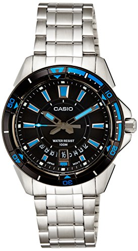 Casio (MTD-1066D-1A|A502) Enticer Black Dial Men's Analog Watch image