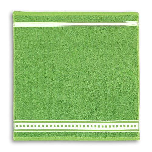 KRACHT, Frottiertuch Standard, Bambus/Baumwolle, grün, 50x50cm