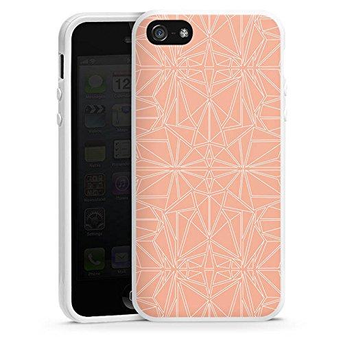 Apple iPhone 5s Housse Outdoor Étui militaire Coque Motif Motif Pêche Housse en silicone blanc