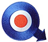 Mod Quadrophenia Q Arrow Target Embroidered Patch (Blue/Red/White)