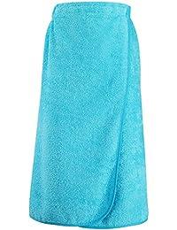 SOL'S- paréo de bain - dos élastiqué - serviette éponge coton - 89101 - taille unique - BLEU TURQUOISE - femme