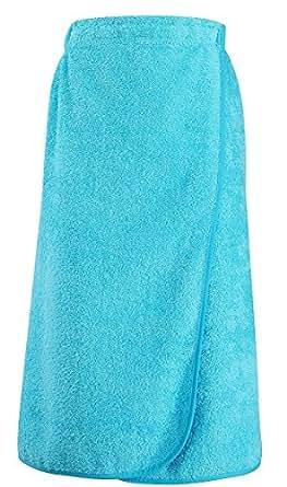 sol 39 s par o de bain dos lastiqu serviette ponge coton 89101 taille unique bleu. Black Bedroom Furniture Sets. Home Design Ideas