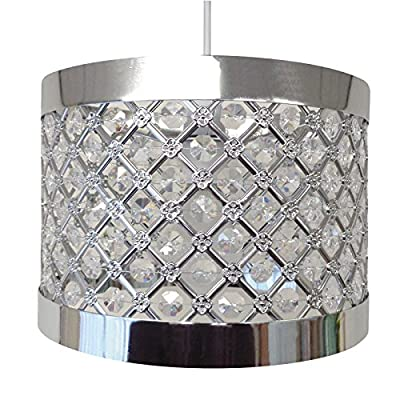 Easy Fit Moda Sparkly Ceiling Pendant Light Shade Fitting Modern Decoration - cheap UK light shop.