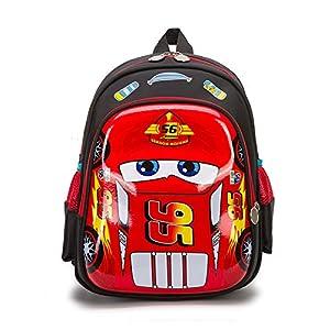 51Flm14AoQL. SS300  - JKAINI Mochilas para Niños Dibujos Animados Anime Cars Mochila De Estudiante Impresa,Blue-OneSize