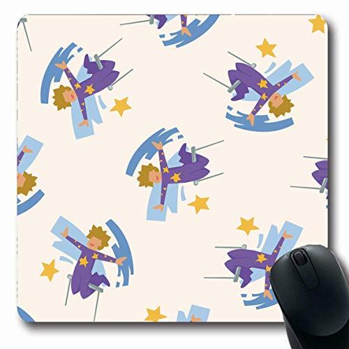 Mousepads Zirkus-Trapez-Künstler-Akrobat-Karneval-Feier-Unterhaltungs-angemessenes Festival-Entwurfs-längliche Form-rutschfeste Spiel-Mausunterlage Gummi-längliche Matte,Gummimatte 11,8