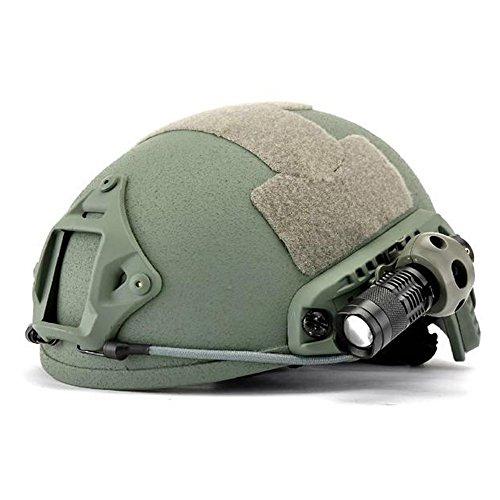 """Preisvergleich Produktbild Quick Release 1 """"Taschenlampe Clamp Halter Halterung für Helm-Schiene todsichere Green."""