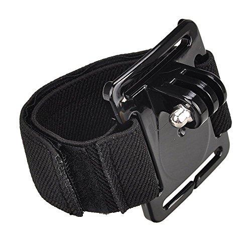 """Shoot® Armgurt Halterung mit Adapter für Gopro Hero 6, 5, 4, 1, 2, 3, 3+ Session 5, 4 und andere Kleine Kameras und Sport-Camcorder (mit 1/4\"""" Gewinde) (Typ C)"""
