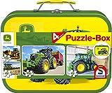 Schmidt Spiele Puzzle 56497 - Puzzle-Box im Metallkoffer John Deere