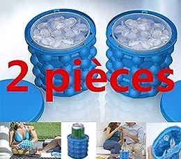 Ice Genie Cube Maker - Cubitos de hielo de silicona para hacer cubitos de hielo azul
