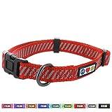 PAWTITAS Verkehrs-Welpen-Halsband Haustier-Halsband reflektierendes Trainings-Halsband Klein Hunde-Halsband Rot Hunde-Halsband
