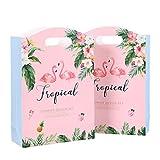 TOYMYTOY 10 Stücke Flamingo Design Papiertüten Flora Papier Süßigkeiten Taschen Party Geschenkartikel