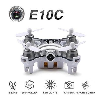 EACHINE E10C Mini Quadcopter with 2MP HD Camera 2.4G 4CH 6 Axis RC Nano Quadcopter Drone RTF Mode 2