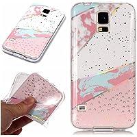 BONROY Samsung Galaxy S5 / S5 Neo Marmor Hülle, Handyhülle Silikon Case Weich TPU Huelle mit für Samsung Galaxy S5 / S5 Neo-Laser Marmor - Farbabstimmung