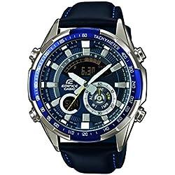 Casio Edifice Reloj Analógico/Digital de Cuarzo para Hombre con Correa de Correa De Cuero Auténtico – ERA-600L-2AVUEF