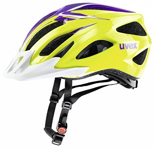 uvex Viva II Fahrradhelm (Größe: 52-57 cm, 12 scream green-violet)