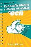 Classifications, critères et scores aux ECN