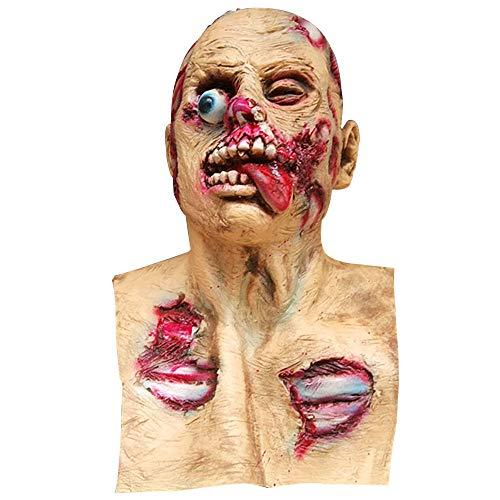 (Beautyrain Halloween Horror Silikon DIY Maskerade Requisiten Horror Biohazard Zombie Teufel Maske Spielt Gesichtsmasken Spukhaus Requisiten)