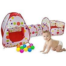 Los niños tienda del juego, los niños Tent 3 en 1 por TIGER,Pop Up Kids Juego Tienda con Túnel y del hoyo interior y exterior Fácil plegable linda del juegos Parque infantil Casa con cremallera bolsa