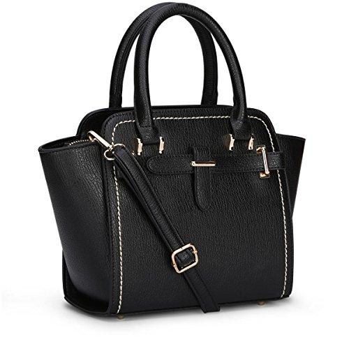 Valin S751 Moda Donna 2018 Moda Borse A Tracolla, Borse A Tracolla, Tote Bags, 35.5x22x13 (nero), Nero