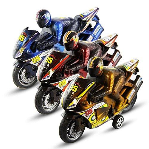 2-x-Motorrad-mit-Fahrer-mit-Friktion-Rckzugantrieb-Motorradfahrer