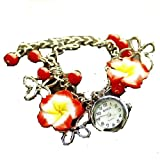 Girlz! Metal Red Charm Bracelet For Wome...