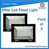Quality Motto 200w led Flood Light Outdoor Waterproof - Ultra Thin Slim Ip66 Led Flood Outdoor Light Cool White Waterproof-200W (200w Pack of 2)