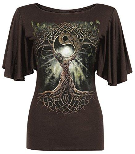 Spiral Oak Queen Maglia donna marrone XL
