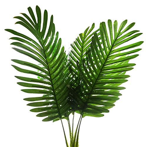 SLanC 5Stück Palm Künstliche Pflanzen Blätter Dekorationen Faux Große Tropical Palm, Bleibt Nachahmung Farne Künstliche Pflanzen Blatt für Home Kitchen Party Blumen Arrangement Hochzeit Dekorationen