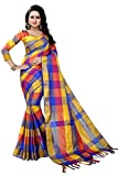J B Fashion Women's with Blouse Piece Saree (SAREE FOR WOMEN-EKKAT-3-88_Blue_Free Size)