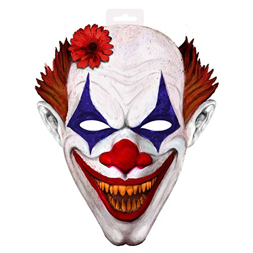 Kunststoff Clown Maske (Folat 61362 - Grusel Clown Maske XXL aus)