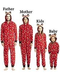 Hibote Adulte Enfants Mère Père Noël Vêtements De Nuit Vêtements De Nuit Pijamas Ensemble Famille Assorties Pyjamas De Noël Sleepwear Nightwear Homewear