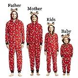 hibote Schlafanzug Pyjama Hausanzug Sleepwear Familie passende Weihnachten Pyjama Set - Nachtwäsche für Papa Mom Kids