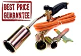 Gasbrenner-Set für Propan / Butan, Lötset, Anwärmbrenner, Schlauch, Regler, für Klempner und Dachdecker
