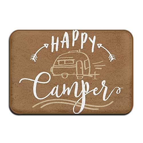 Mbefore Felpudo Interior/Exterior Feliz Camper Impreso