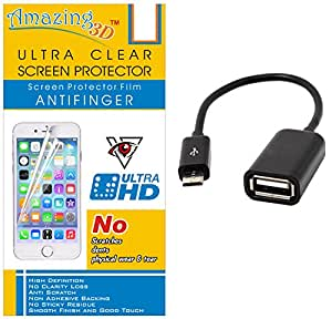 Generic Ultra Clear Screen Protector For Yureka And Free OTG Cable
