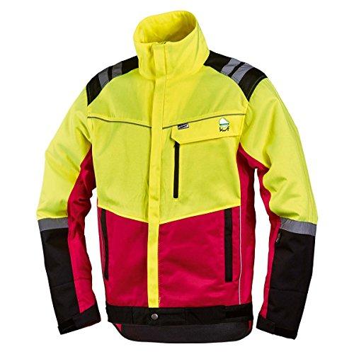 NEU! Worky Forstschutz-Jacke Komfort, modern, rot/neongelb, mit Reflexstreifen, Gr. S - XXL (L)