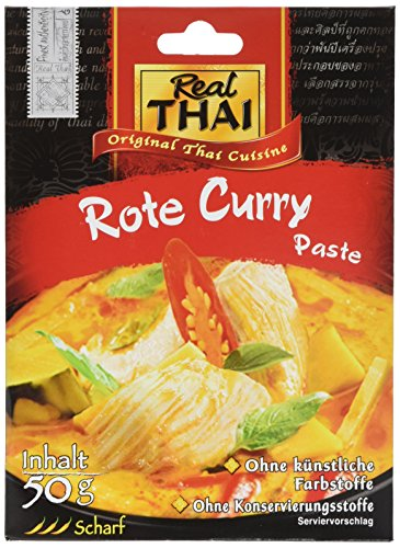Real THAI Rote Curry Paste, 5er Pack (5 x 50 g) (Paste Red Curry Thai)