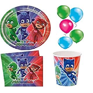 Party Birthday PJ MASKS For 8 People