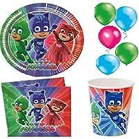 kit de fiesta de cumpleaños de fiesta PJ MASKS para 8 personas