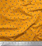 Soimoi Orange Viskose Chiffon Stoff Dreieck & Rakete