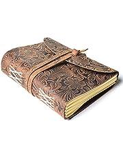 Leaderachi Genuine Hunter Leather & Handmade Paper Diary Ha