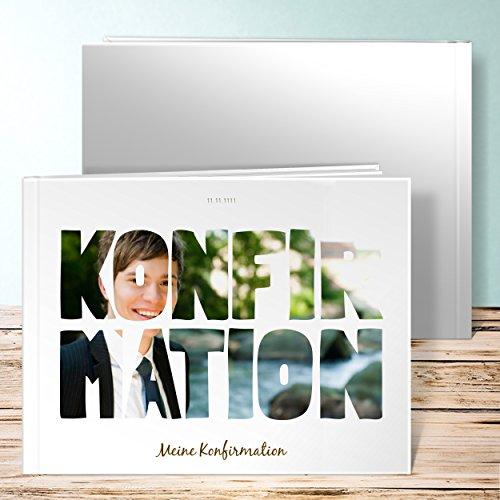 Konfirmationsalbum, Fototext 28 Seiten, Hardcover 290x222 mm personalisierbar, Weiß
